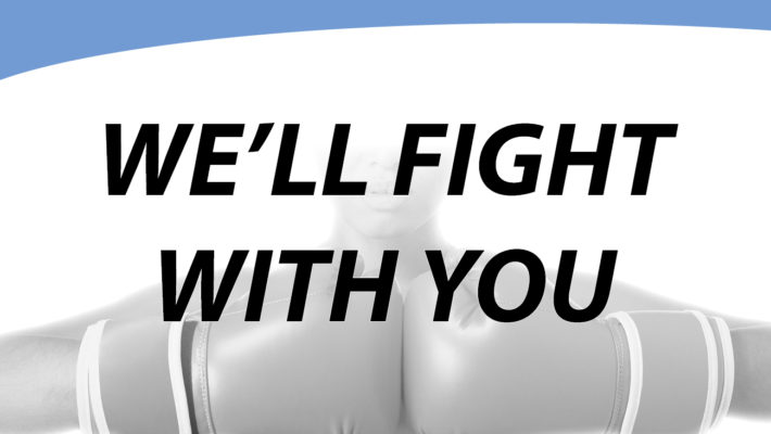 Blog: We'll Fight With You